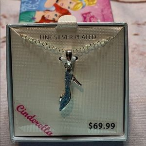 Cinderella Fine Silver Plated Slipper Necklace